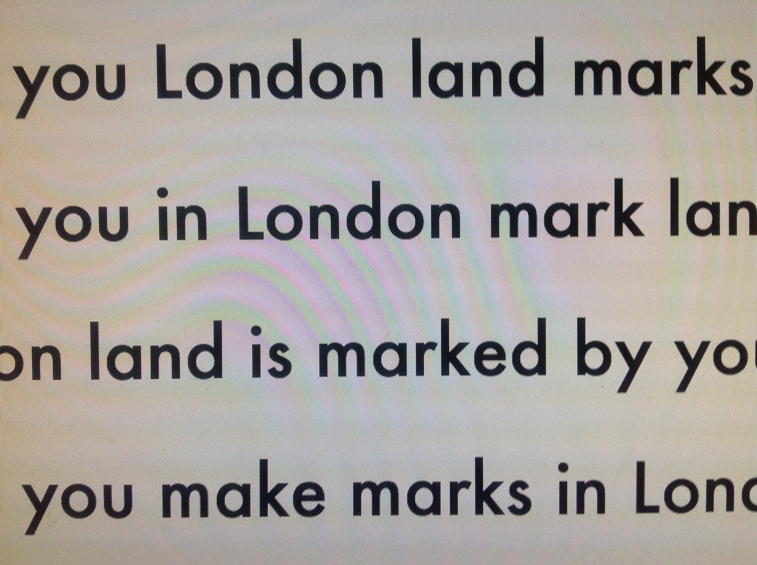 Redell Olsen London Land Marks 2007